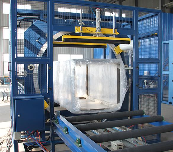 铝材缠绕包装机(又叫水平式缠绕包装)