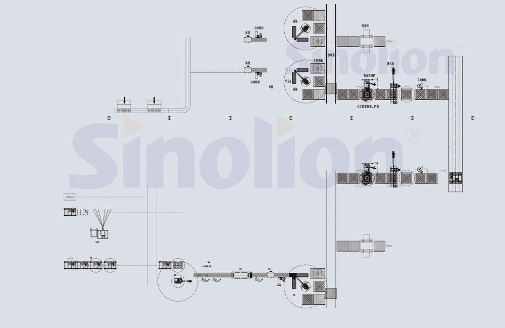 纤维行业包装流水线系统